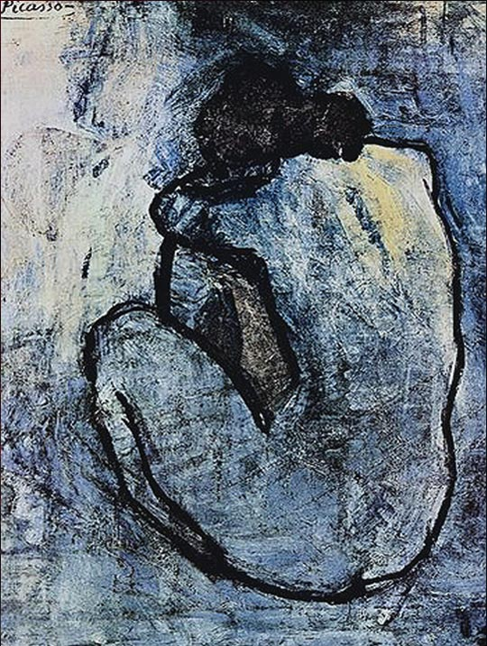 953adfa31 هذه التحفة الفنية هي واحدة من أعمال بيكاسو الأولى ، تم رسمها في عام 1902 في  الوقت الذي كان فيه بابلو بيكاسو لا يزال حزين على الوفاة المأساوية لأحد  أصدقاءه .